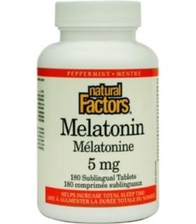 МЕЛАТОНИН 5 МГ Х 180 NATURAL FACTORS