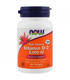 NOW Foods Витамин D3 5000 IU х 240 капс.