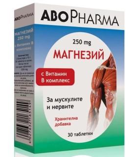 АБОФАРМА МАГНЕЗИЙ С ВИТАМИН B КОМПЛЕКС Х 30 ТАБЛ.