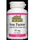 Айрън Факторс желязо с витамин В12 и Фолиева киселина табл. х 90 Natural Factors